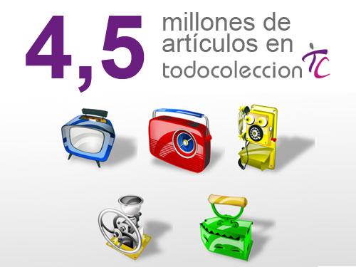 4,5 millones de articulos en el catalogo de Todocoleccion