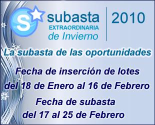 Subasta Extraordinaria Invierno 2010
