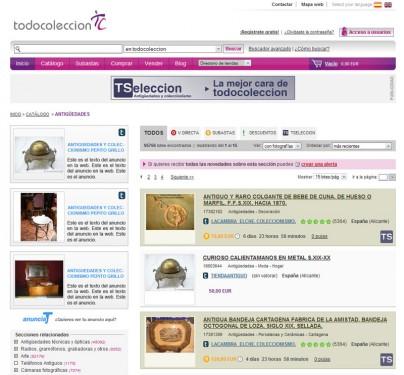 anuncios en la web todocoleccion nuevo AnunciaTe