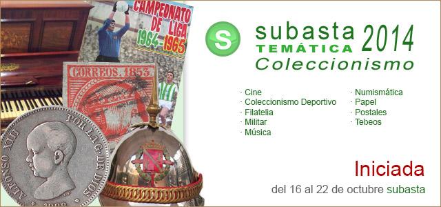 Subasta Temática Coleccionismo 2014