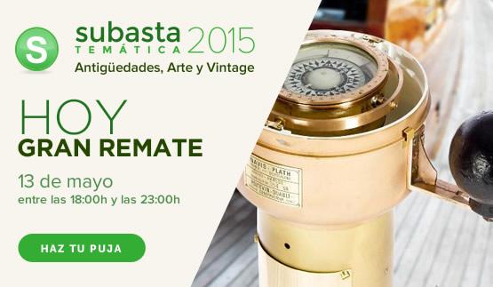 Subasta Temática Antigüedades, Arte y Vintage 2015