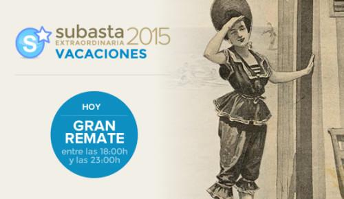 Remate Subasta Extraordinaria Vacaciones 2015