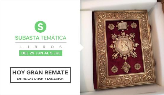 Gran Remate, Subasta Temática Libros 2016