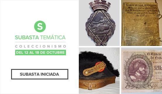Iniciada, Subasta temática coleccionismo 2016