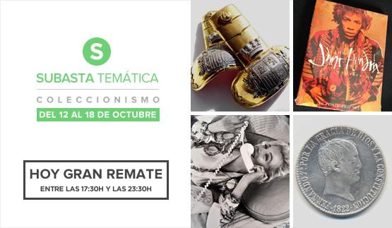 Hoy Gran Remate, Subasta temática Colecciomismo 2016