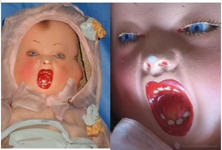 muñeca cuatro caras